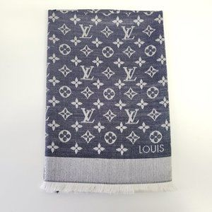 Louis Vuitton Monogram Shawl Blue Denim